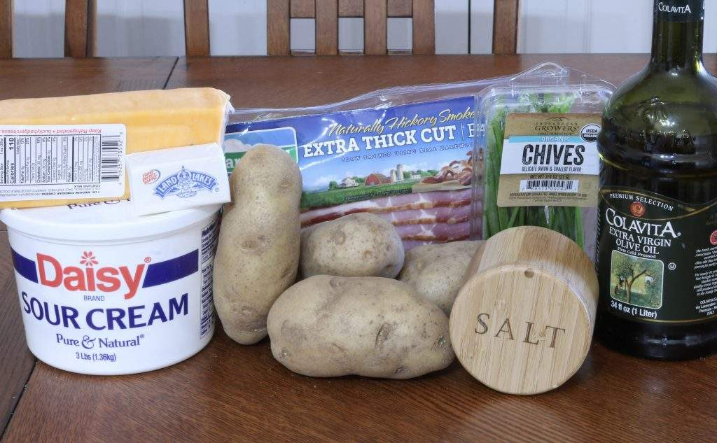 Ingredients for Loaded Baked Potato Footballs